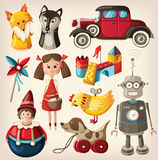 Vintage toys for kids royalty free illustration