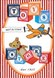 Vintage toys poster Stock Photography