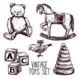 Vintage Toys Set Stock Photo