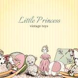Vintage toys shop leaflet Royalty Free Stock Image