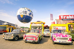 Vintage Trabant cars at Trabi Museum in Berlin Stock Photography