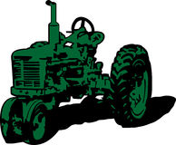 Vintage tractor clip art. Vintage tractor illustration clip art royalty free illustration