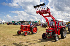 Vintage tractor display at Nairn show Royalty Free Stock Images