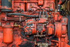 Vintage Tractor Engine Royalty Free Stock Photos