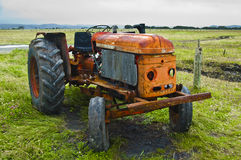 Vintage tractor. On a field Stock Image