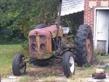 Vintage tractor royalty free stock image