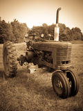 Vintage Tractor Sepia Stock Photography