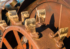 Vintage tractor Wheel Teeth Stock Photography