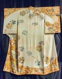 Vintage traditional japanese silk kimono Japan pattern on decora Stock Photography