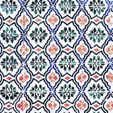 Vintage Traditional ornate portuguese decorative tiles azulejos Royalty Free Stock Images