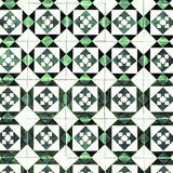 Vintage Traditional ornate portuguese decorative tiles azulejos Stock Photo