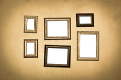 Vintage traditional realistic frames set Stock Photo