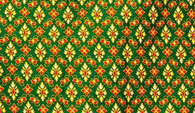 Vintage traditional Thai pattern of the fabric Royalty Free Stock Images