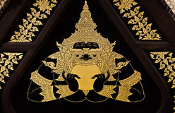 Vintage traditional Thai style art painting Stock Photos