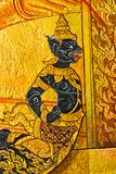 Vintage traditional Thai style art painting. Stock Photos