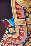 Vintage traditional Thai style art painting Royalty Free Stock Image