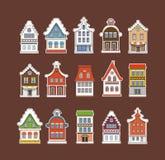 Vintage traditionnel coloré d'Amsterdam illustration libre de droits
