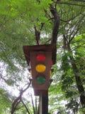 Vintage traffic lights. Royalty Free Stock Images