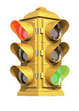 Vintage Traffic Signal royalty free stock images