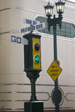 Vintage traffic signal go Stock Photography