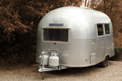 Vintage trailer camper Stock Photo