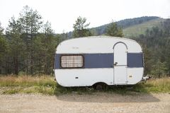 Vintage trailer stock image