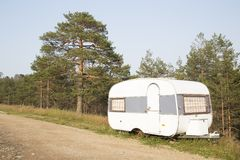 Vintage trailer royalty free stock photography