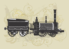Vintage train Royalty Free Stock Photos