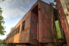 Vintage train car Royalty Free Stock Photo