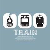 Vintage Train Collection. stock illustration