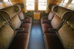 Vintage Train Interior Royalty Free Stock Image