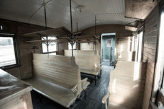 Vintage train interior Stock Photo