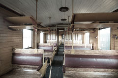 Vintage train interior Royalty Free Stock Images