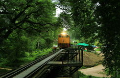 Vintage train, Kanchanaburi, Thailand Royalty Free Stock Images