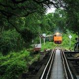Vintage train, Kanchanaburi, Thailand Stock Images