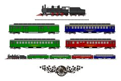 Vintage train kit Royalty Free Stock Image