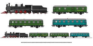 Vintage train kit Royalty Free Stock Images