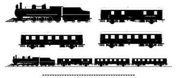 Vintage train kit Royalty Free Stock Photo