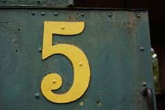 Vintage train number 5. In indonesia Royalty Free Stock Photography