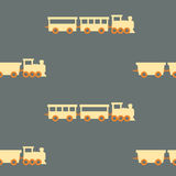 Vintage train pattern Royalty Free Stock Image