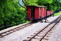 Vintage train. On Sarganska Osmica railroad station, Mokra Gora, Serbia Royalty Free Stock Image
