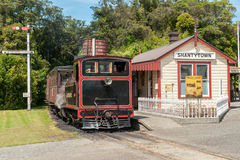 Vintage train in Shantytown Heritage Park Royalty Free Stock Image