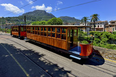 Vintage train in Soller, Mallorca, Spain Stock Photography