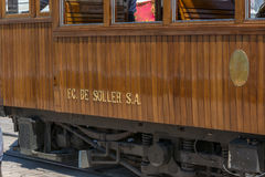 Vintage train, tram in Port de Soller, Mallorca Royalty Free Stock Photo
