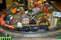 Vintage Train Village Royalty Free Stock Photo