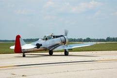 Vintage training aircraft. World war era vintage T-6 Texan trainer royalty free stock photography