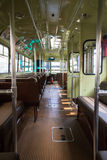 Vintage tram car interior Royalty Free Stock Images