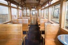 Vintage tram car interior Royalty Free Stock Image