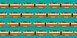Vintage tram car pattern Royalty Free Stock Images