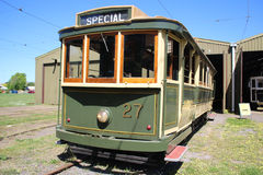 Vintage tram carriage Royalty Free Stock Photos